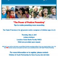 Children and Youth Partnership, The Power of Positive Parenting - Tips to make parenting more rewarding